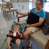 Staff photo by Mike Elswick<br /> While good nutrition is important for a baby's development, health officials also said human interaction and play is important too. Saint Walton, 8 months old, is seen taking his formula with his grandmother Kathy VanBuskirk of Tahlequah, in the lobby of Cherokee Nation's Three Rivers Health Center in Muskogee on Wednesday.