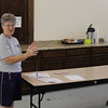 Staff photo by Harrison Grimwood<br /> B.J. Charbonneau talks about Grace Episcopal Church, which opened a cooling shelter Wednesday.