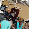 Photo by Travis Sloat<br /> Jay Garrett, the director of the Cath Lab at EASTAR Health System, talks with students from Indian Capital Technology Center about the different career paths they can take as registered nurses. Garrett also showed a video of a heart procedure.