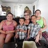 Staff photo by Mark Hughes<br /> Rosanna Rodriguez, a single mother, will be moving from public housing to her own home Friday thanks to a program offered by Muskogee Housing Authority. Pictured with Rodriguez are her children, from left, Jazlyn, Monte, Josiah and Elisa.