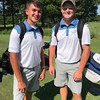 Phoenix special photo by Von Castor<br /> Zack Taylor, left, and Brice Terry of Checotah took medalist honors at the All-State golf game with a 65. The duo earned three points for the East squad as they beat the West 16-8.