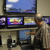 Staff photo by Harrison Grimwood<br /> Mark Bolding, the new emergency management director for the city of Muskogee, watches the radar in the command center at the Muskogee 911 Center.
