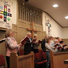 Special photo by Travis Sloat<br /> The choir for Presbyterian Church of Muskogee leads the congregation in worship. The church was formed from a merger of First Presbyterian<br /> Church and Bethany Presbyterian Church.