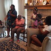 ABIGAIL HALL/Muskogee Phoenix<br /> <br /> From left: Miana Nicholson, Quiana Nicholson, Bernice Walker, Maliyah Nicholson, Damia Jackson and Markaela Nicholson.<br /> <br /> Bernice and her family gather in their living room to clap and sing together as great-great-granddaughter Moriah Nicholson plays a gospel song on keyboard. Bernice and her family love singing together and spending time together.