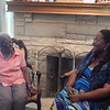 ABIGAIL HALL/Muskogee Phoenix<br /> Muskogeean Bernice Walker shares stories of her life with great-great-granddaughter Quiana Nicholson. Walker raised Nicholson from birth as her child and lives with her, her husband, and six children. Nicholson has arranged a party to celebrate Walker's 100th birthday on Saturday in Muskogee.