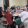 Staff photo by Mike Elswick<br /> An average of 70 to 80 people show up regularly at noon Monday through Friday at Rayfield Baptist Church for a balanced meal and chance to visit with others. In addition to the meal, the time provides socialization and the opportunity to play games, sing and interact with others.