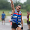 Phoenix special photo by Von Castor<br /> Mandy O'Reilly shows her excitement after winning the women's short course race at the Port to Fort Adventure Race on Saturday.