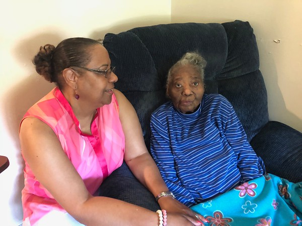 CHESLEY OXENDINE/Special to the Phoenix<br /> Jeanie Craig, left, said her aunt, Rhoda Spigner, has played a big part of caring for family members throughout her nearly 104 years.