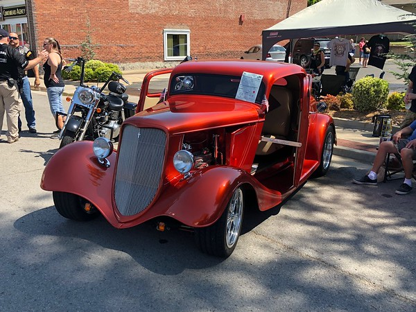 CHESLEY OXENDINE/Special to the Phoenix<br /> Motorcycles, hot rods, muscle cars, tractors and more lined the streets of Fort Gibson Saturday for the 24th Annual Fort Gibson Auto Show.