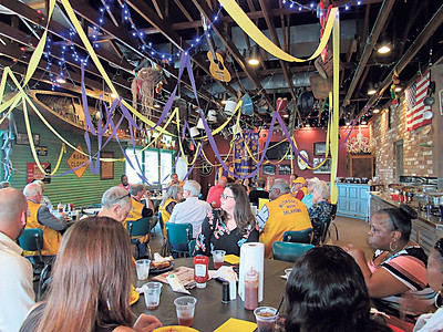 KENTON BROOKS/MuskogeePhoenix People gathered Wednesday for the annual Muskogee Noon Lions Club Benevolent Donor Banquet atCowboy's Bar-B-Q & Grill. Area organizations received checks the club raised from their pancake breakfast held in March at the Muskogee Civic Center.