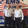 ABIGAIL HALL/Muskogee Phoenix<br /> Brandt Hiler, left, and Kristen Bias received the national Star of Life award from the American Ambulance Association on Tuesday evening.
