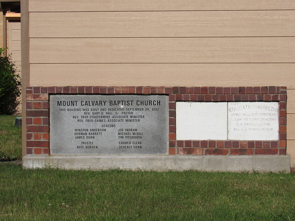 Mount Calvary Baptist Church will dedicate its cornerstone during a celebration on June 23. Other cornerstones note previous church buildings, which date to 1946 and 1907.