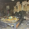 CHESLEY OXENDINE/Muskogee Phoenix<br /> A Monday morning fire ripped through the bedroom of Apartment 105 at the Village East Apartments off York Street.