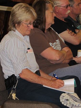 Brenda Hediger of Webbers Falls jots notes during a workshop hosted by Southern Baptist Convention Disaster Relief, held Tuesday at Muskogee Baptist Association.