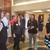 CHESLEY OXENDINE/Muskogee Phoenix<br /> (from left to right) Executive Director of Corporate Communications at Saint Francis Hospital, Lauren Landwerlin, and Saint Francis Health System Vice President Michele Keeling have a chat with Red Cross Oklahoma Regional Philanthropy Officer Sara Flowers and Central and South Texas Regional Chief Development Officer Sunny Howard after the hospital donated $100,000 to the organization's disaster relief effort.
