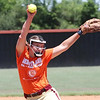 Phoenix special photo by John Hasler<br /> Warner pitcher Jalynn Duncan rocks and fires in a game Tuesday at the Heartland Classic in Warner.