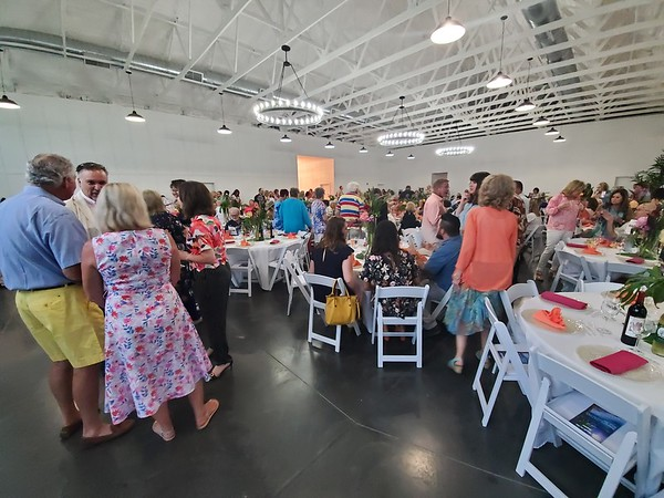 CHESLEY OXENDINE/Muskogee Phoenix<br /> A crowd packed the Eight Ten Ranch and Cattle Company for A Night in the Tropics, a fundraiser for the Kelly B. Todd Cerebral Palsy and Neuro-Muscular Foundation.