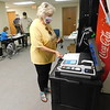 AUSTIN HEADLEE/Muskogee Phoenix<br /> Charlotte McDaniel, of Muskogee, casts her ballot at the Muskogee County Election Board. McDaniel was one of the many early voters Thursday morning.