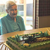 Special photo by Travis Sloat<br /> Wilma Startz, who turns 100 today, waits for the cake to be cut at her family birthday party on Sunday. Startz credits part of her longevity to her sweet tooth.