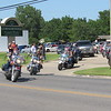 CATHY SPAULDING/Muskogee Phoenix<br /> Motorcyclists head out of Cornerstone Funeral Home on Thursday as part of a funeral procession for Joshua Jackson. Dozens of motorcyclists attended a service for of Joshua Jackson on Thursday. Jackson, 32, died June 22 after a collision between his 2004 Harley-Davidson motorcycle and a 2007 Dodge Nitro driven by Addison Clark. Clark was charged Tuesday with manslaughter, driving under the influence and causing great bodily harm, transporting an open container, failure to yield, failure to carry insurance, and driving with license suspended.