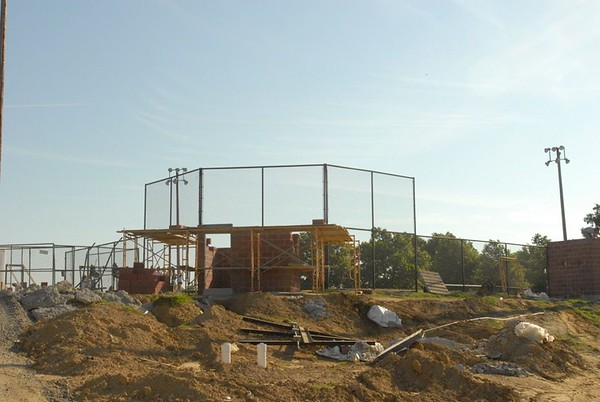 NATHAN DEAL/Muskogee Phoenix<br /> Porter's softball field takes shape as part of multiple athletic improvements from a bond package.
