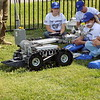 MIKE ELSWICK/Muskogee Phoenix<br /> A remote control operated robot used by Oklahoma Highway Patrol bomb squad is demonstrated to a group of incoming high school seniors participating in a weeklong law enforcement academy. About 110 cadets are based on the Connors State College Warner campus this week to learn more about the behind the scenes work of law officers.