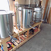 Staff photo by Mike Elswick<br /> Brewing vats and fermenting tanks like these will be put into operation in coming months at Muskogee Brewing Co.