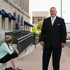 Staff photo by Harrison Grimwood<br /> Greg Aery, the adoptive father of Abby Seals, one of two victims in a murder trial, stands outside the Muskogee County Courthouse after learning that the jury came back deadlocked Wednesday.