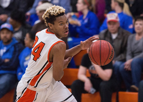 Phoenix special photo by Abigail Washington<br /> Okay's Darius Riggs is one of four seniors for the Mustangs making their third consecutive state tournament appearance in Class A. They face Cyril tonight at 7 at Southern Nazarene University.