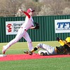 JOHN HASLER/Special to the Phoenix<br /> Cole Mahaney attempts to turn a double play for Fort Gibson in Monday's action against Jay.
