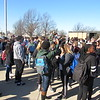 Staff photo by Cathy Spaulding<br /> Muskogee High School students take pictures while joining in a nationwide school walkout protesting gun violence. Students walked out for 17 minutes Wednesday morning.