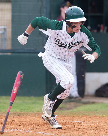 VON CASTOR/Special to the Phoenix<br /> Muskogee's Jaron Castor doubles in the second run of the game Thursday afternoon against Wagoner in a 11-1 run-rule victory at Rougher Field.