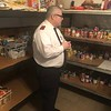 "CHESLEY OXENDINE/Muskogee Phoenix<br /> Lt. Rev. Charles Smith of the Salvation Army discusses the items missing from the Army's food pantry shelves following a rough month. ""Our shelves are running quite low on nonperishable food items, such as potted meats, peanut butter, beans, Vienna sausages. We are also running low on canned fruit, bagged or box rice, and pasta items,"" Smith said. The pantry will also need more food as it plans to move from its appointment-based assistance to walk-in assistance in the near future, Smith said."