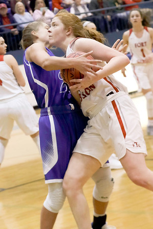 JOHN HASLER/Phoenix Special Photo<br /> Reese Webb drives against a Vinita defender in Friday's Class 4A Area IV playoff game.