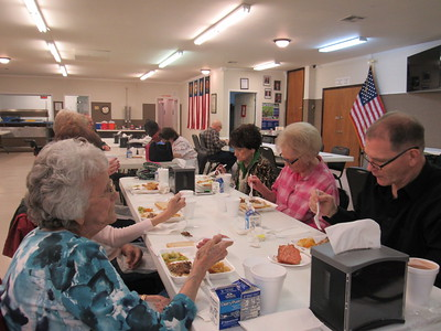 Staff photo by Cathy Spaulding People aged 60 and older eat lunch at the Frank Gladd American Legion Post 20 as part of the SAC Nutrition Program. People are to make reservations a day in advance.
