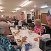 Staff photo by Cathy Spaulding<br /> People aged 60 and older eat lunch at the Frank Gladd American Legion Post 20 as part of the SAC Nutrition Program. People are to make reservations a day in advance.