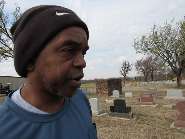 Staff photo by Cathy Spaulding<br /> As manager and caretaker at Booker T. Washington Cemetery, Darryl S. Brown said he has buried friends and family, even his own mother.