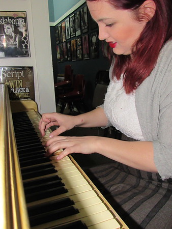 Staff photo by Cathy Spaulding<br /> Charity Pickup began playing piano as a toddler. She continues to enjoy singing and playing piano and guitar.