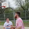 Staff photo by Cathy Spaulding<br /> Cool temperatures don't keep Muskogee buddies Kendon Reece, left, and Austin Fisher from playing pick-up basketball Monday at Robison Park. According to Muskogee's AccuWeather forecast, warmer weather is due today and Wednesday. However, a potential Wednesday storm could bring temperatures back down to the 60s later this week.