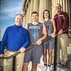 JOHN HASLER/Phoenix Special Photo<br /> From left, members of the All-Area basketball team include Jeff Fry of Braggs and Zane Adams of Haskell, the boys Coach of the Year and Most Valuable Player, and Alexys Keys of Sequoyah and Jerry Ward of Webbers Falls, girls Coach of the Year and MVP.