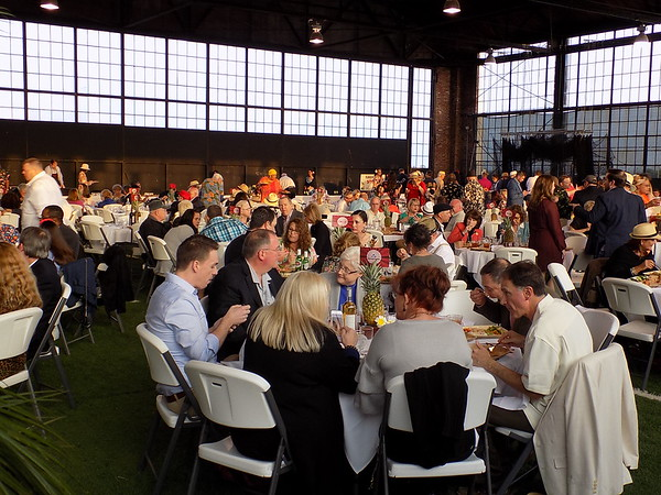 MIKE ELSWICK/Muskogee Phoenix<br /> A crowd of about 275 people attended Thursday night's 95th annual Greater Muskogee Area Chamber of Commerce Banquet held at Hatbox Hangar.