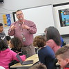 Science teacher Jason Cochran explains different facets of genetics to Alice Robertson Junior High students.
