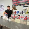 Staff photo by Cathy Spaulding<br /> Limitless Nutrition co-owner John Griggs works with Lillie Robinson behind a smoothie and energy tea bar inside the business.