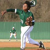Phoenix special photo by John Hasler<br /> Rougher freshman Pryce Jackson throws off the mound in windy conditions that saw gusts of 45 mph Tuesday. Jackson and the Roughers lost 8-0.