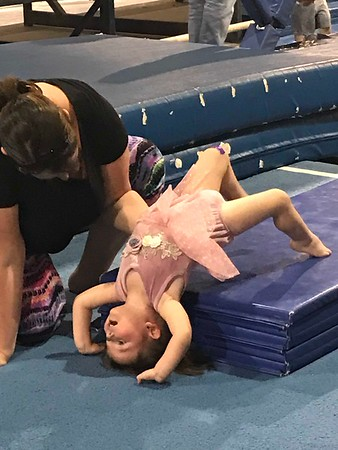 ANDREA CHANCELLOR/Special to the Phoenix<br /> Toddlers are closely supervised during exercises.