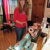 CATHY SPAULDING/Muskogee Phoenix<br /> Darla Boydstun talks about different sewing machines in her collection. They include an old Morse, front, and a coral-colored American Home.