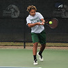PATRICK KAYS/Phoenix Special Photo<br /> Keke Arnett returns a shot for Muskogee in No. 1 doubles action at the OSSAA state tennis championships on Friday in Oklahoma City.