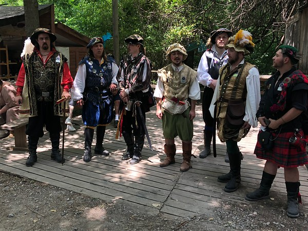 CHESLEY OXENDINE/Special to the Phoenix<br /> A group of minstrels sing songs at the Muskogee Castle's Oklahoma Renaissance Festival.