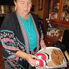 Staff photo by Cathy Spaulding<br /> Pam Shoemaker uses a network of friends to collect shoes and other items for the Cherokee Elementary community resource closet.