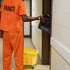 Staff photo by Wendy Burton<br /> The Muskogee County/City Detention Facility received complaints about the cleanliness of cells last year, however, administrators said trustees place cleaning supplies in each pod five days a week and leave them there all day for the inmates to clean their own areas. The health department did not find a problem with cleanliness at the jail.